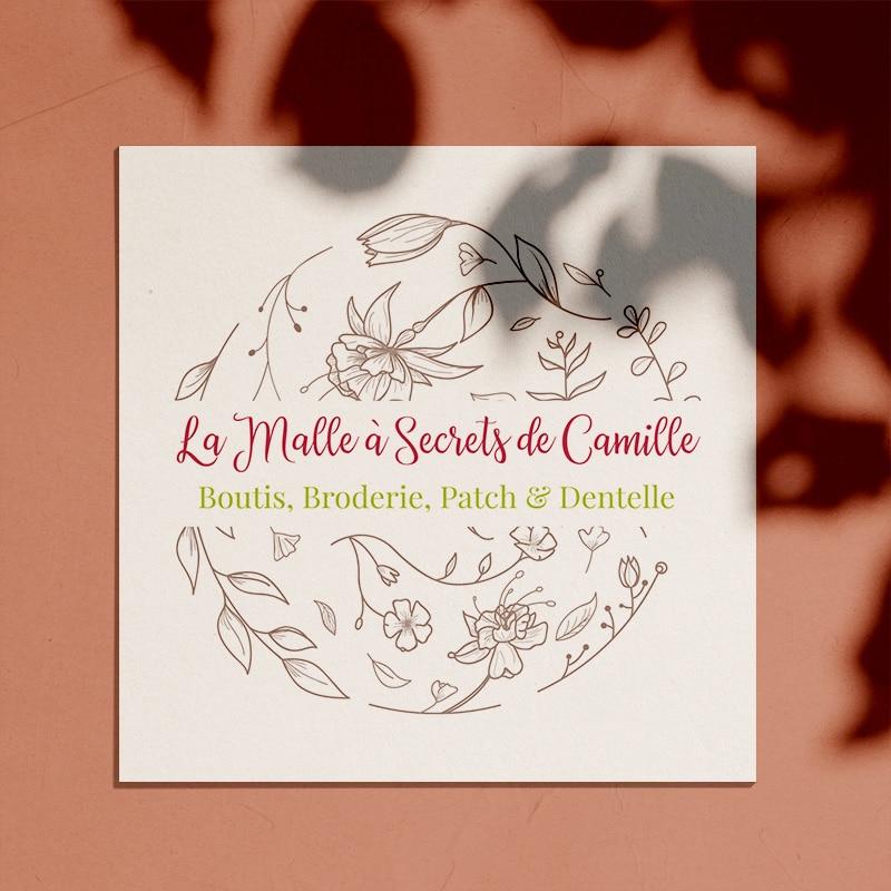 """Identité visuelle pour """"La Malle à Secrets de Camille"""""""