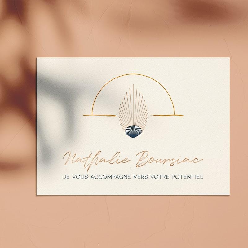 Identité visuelle pour Nathalie Boursiac
