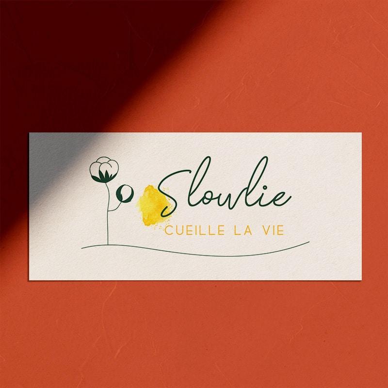 """Identité visuelle pour """"Slowlie"""""""