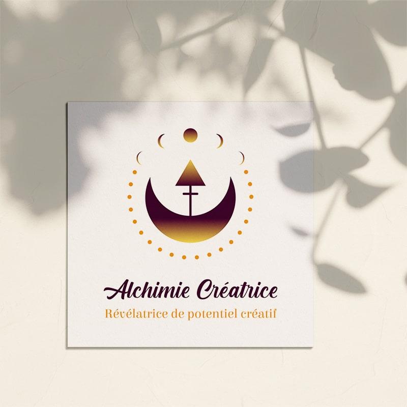 """Identité visuelle pour """"Alchimie Créatrice"""""""