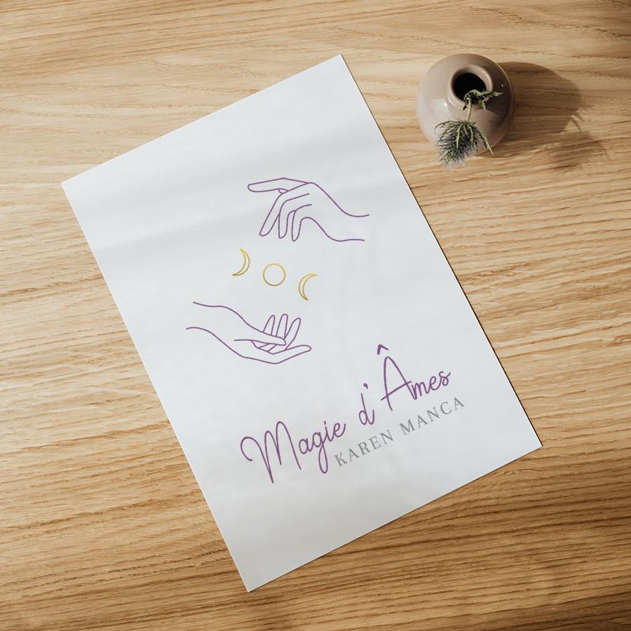 """Identité visuelle pour """"Magie d'Âmes"""""""