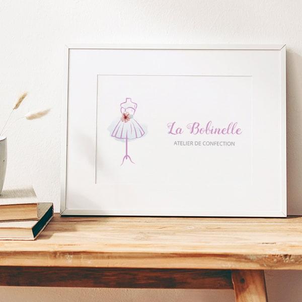 """Identité visuelle pour la marque et boutique """"La Bobinelle"""""""